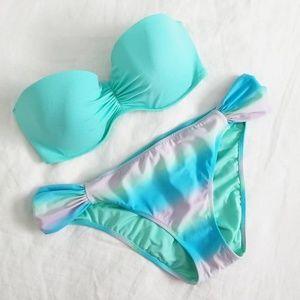 Victoria's Secret Pushup Bikini (L) in Aqua